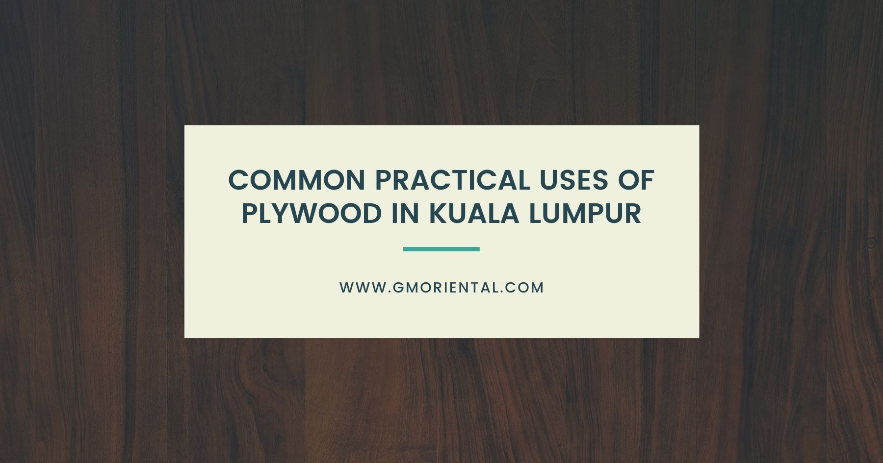 Common Practical Uses of Plywood in Kuala Lumpur